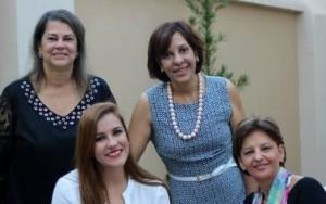 Ana Paula Camargo ao lado dee Mary Helena, Flôr Borges e Adriana Rios