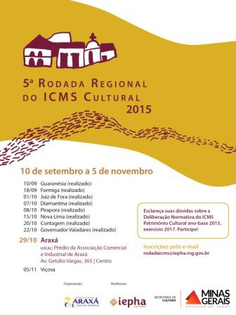 Foto cartaz ICMS cultural Araxá