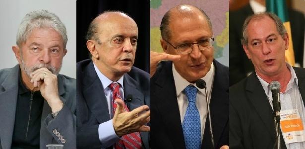 Foto presidenciaveis IBOPE