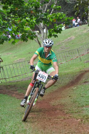 Erika Gramiscelli, seis vezes campeã da CIMTB e cinco vezes vencedora da etapa de Araxá