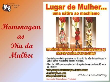 LUGAR DE MULHER ---
