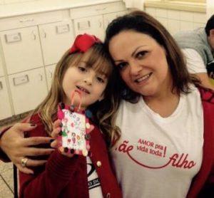Dulce Torres e sua filha Gabriela